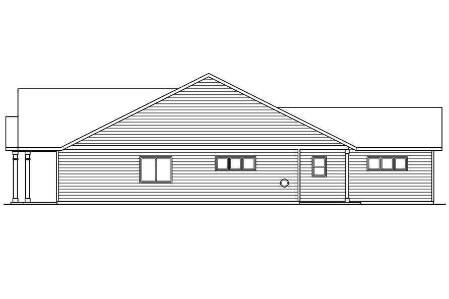 108-1757: Home Plan Right Elevation