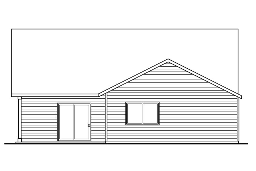 108-1757: Home Plan Rear Elevation