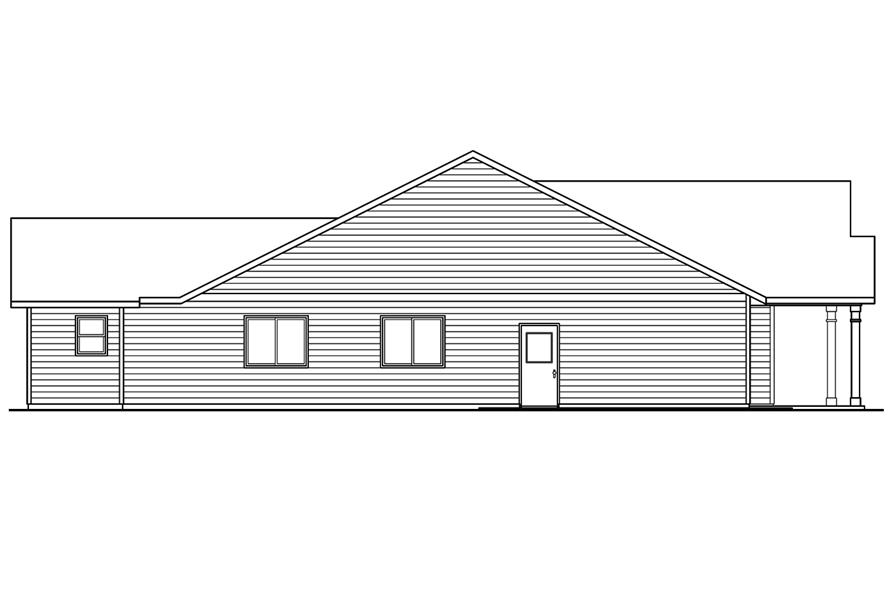 108-1757: Home Plan Left Elevation