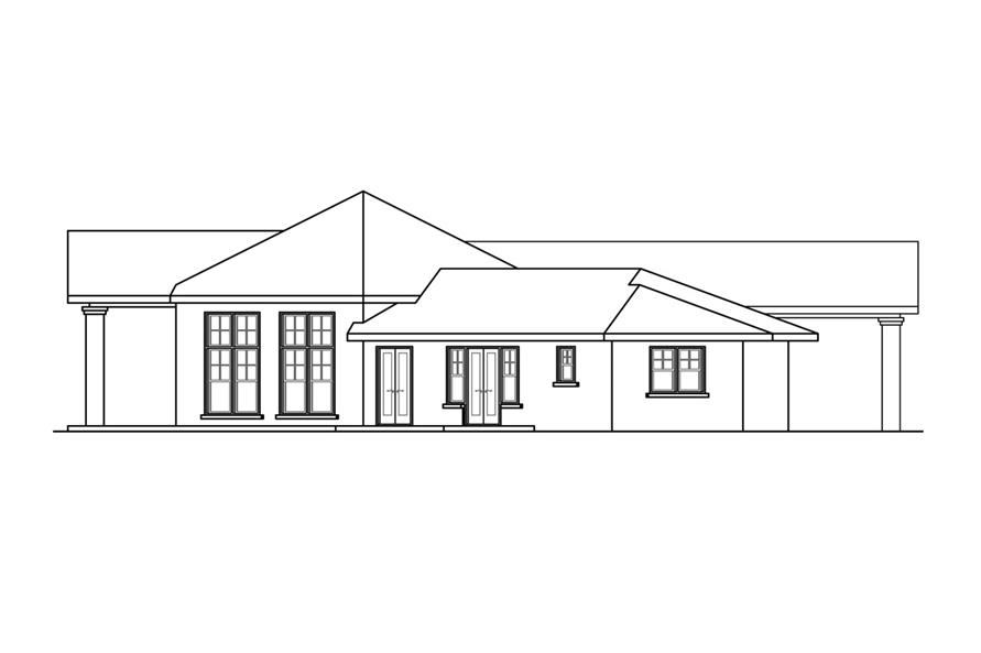 Home Plan Left Elevation of this 3-Bedroom,2893 Sq Ft Plan -108-1758