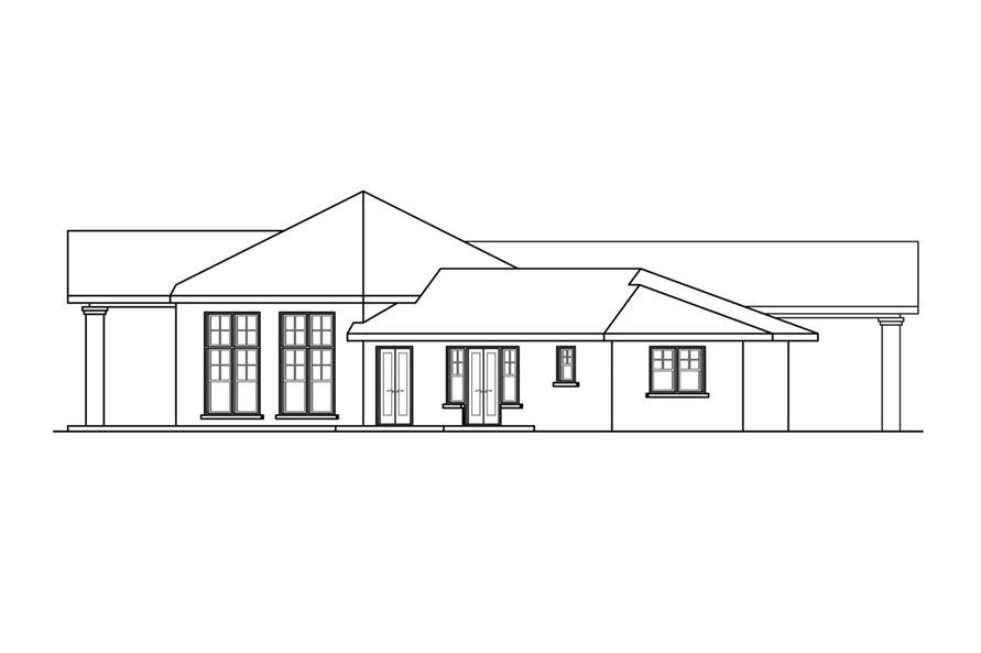 108-1758: Home Plan Left Elevation