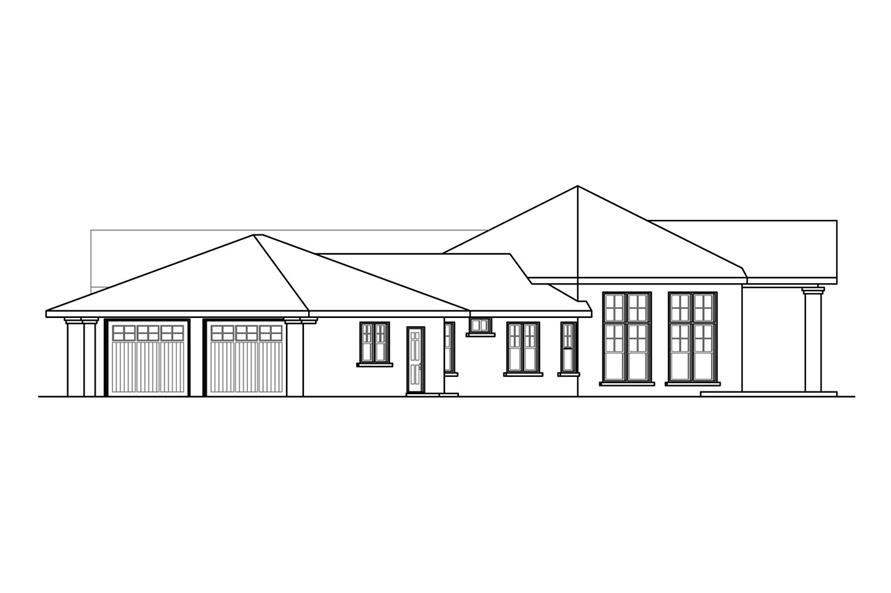 Home Plan Right Elevation of this 3-Bedroom,2893 Sq Ft Plan -108-1758