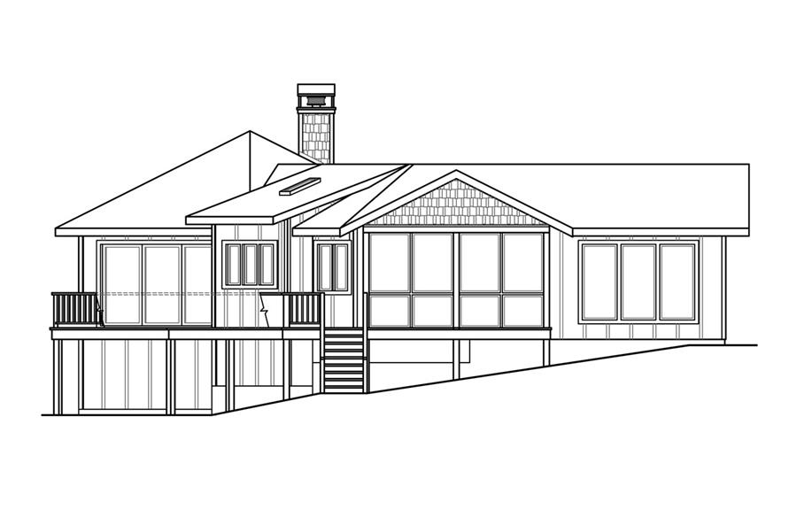 108-1759: Home Plan Left Elevation