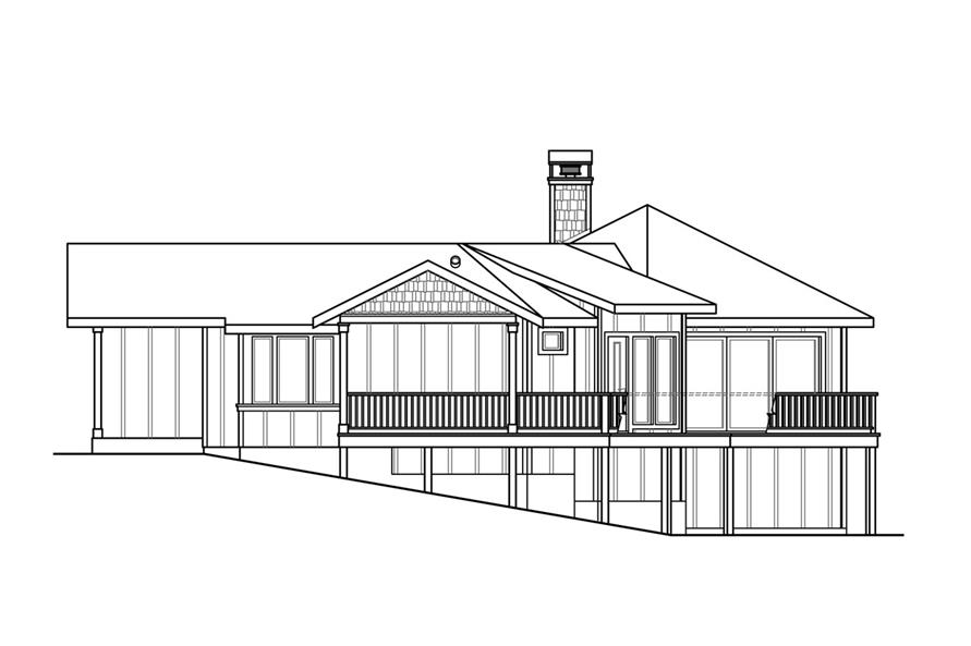 108-1759: Home Plan Right Elevation
