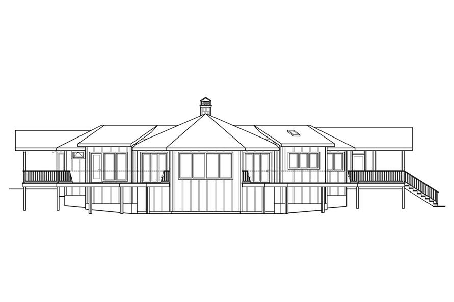 108-1759: Home Plan Rear Elevation