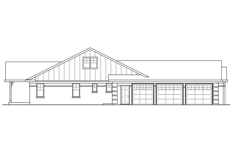 Home Plan Left Elevation of this 3-Bedroom,2390 Sq Ft Plan -108-1760
