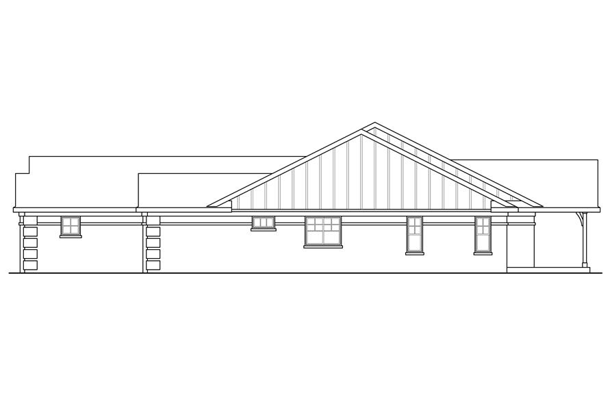 Home Plan Right Elevation of this 3-Bedroom,2390 Sq Ft Plan -108-1760