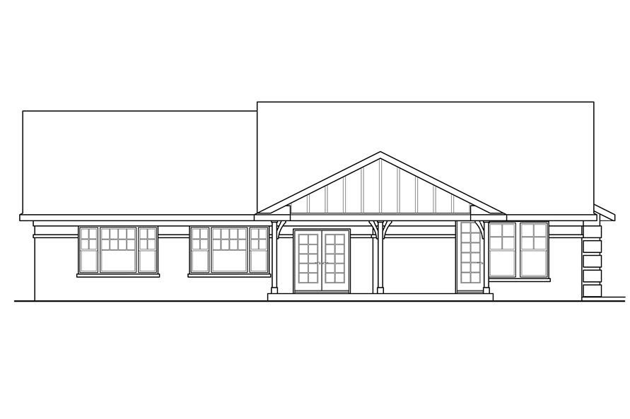 108-1760: Home Plan Rear Elevation