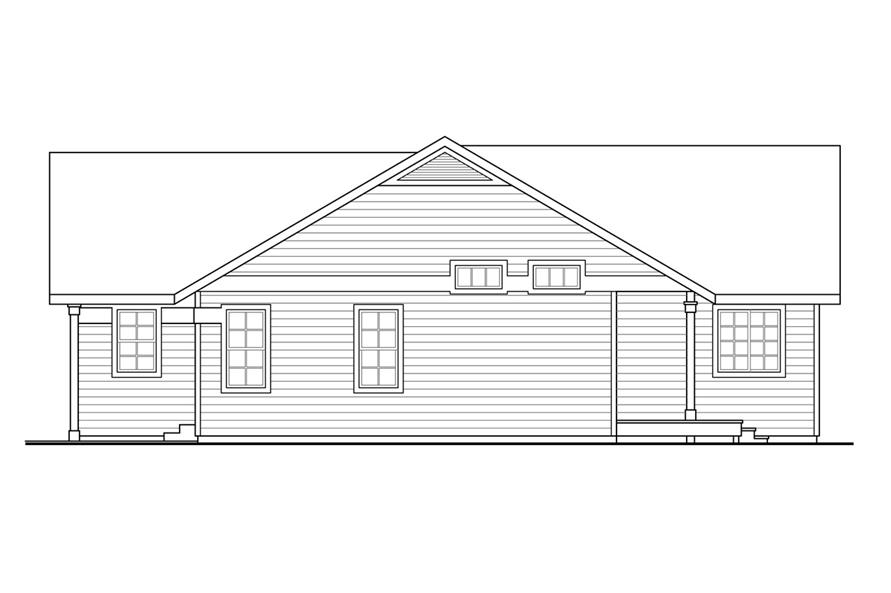 108-1761: Home Plan Right Elevation