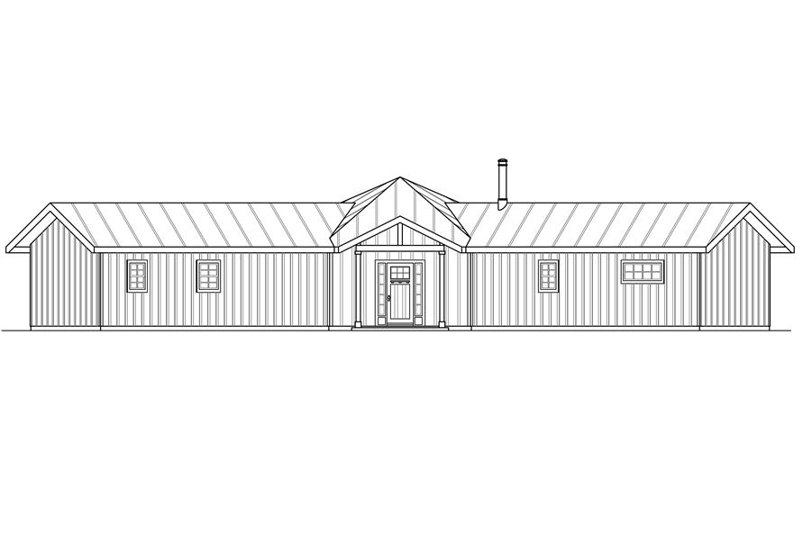 108-1762: Home Plan Front Elevation