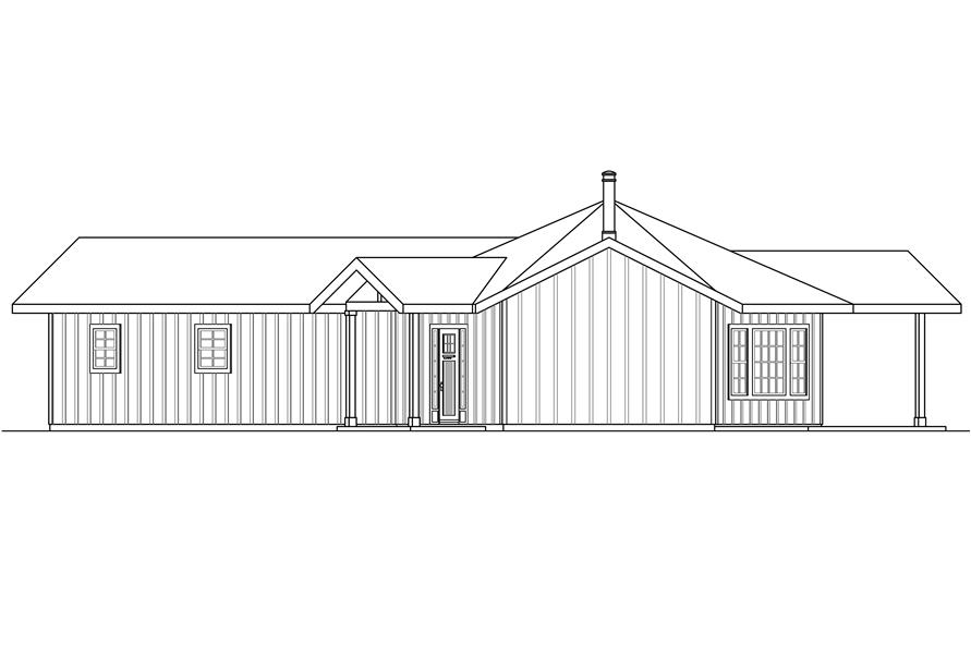108-1762: Home Plan Right Elevation