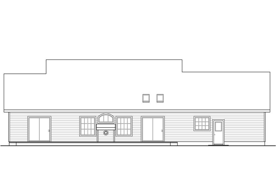 108-1763: Home Plan Rear Elevation