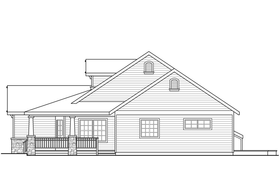 108-1763: Home Plan Right Elevation