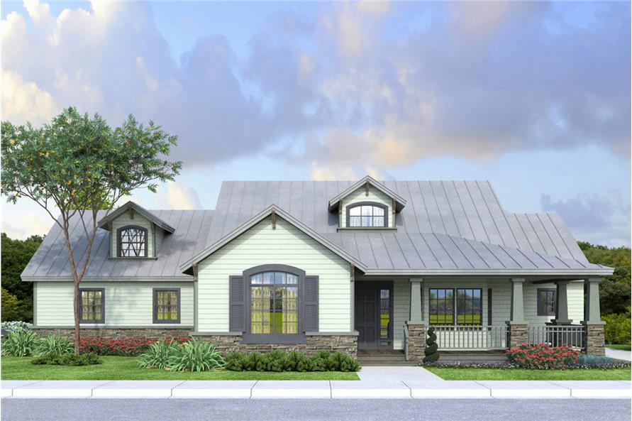 Front elevation of Country home (ThePlanCollection: House Plan #108-1763)