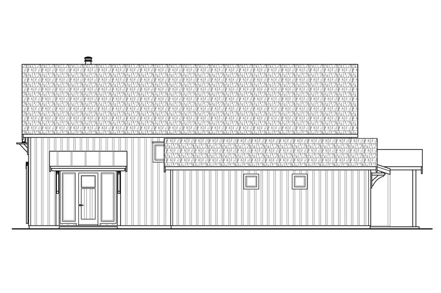 108-1764: Home Plan Right Elevation