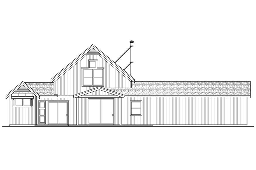 108-1764: Home Plan Rear Elevation