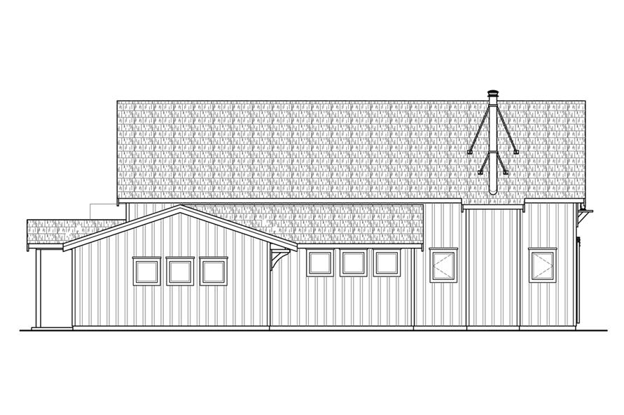 108-1764: Home Plan Left Elevation