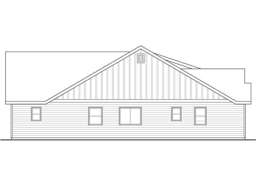108-1765: Home Plan Left Elevation
