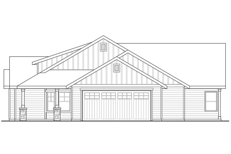 108-1765: Home Plan Right Elevation