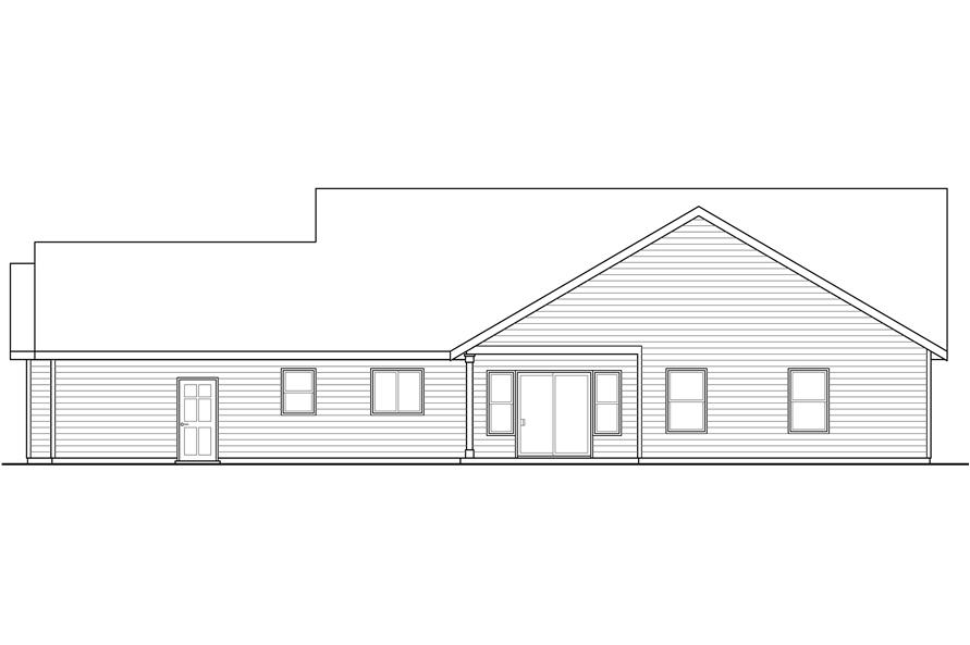 108-1765: Home Plan Rear Elevation