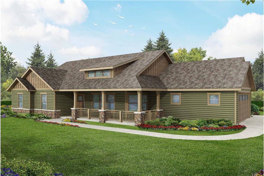 3-Bedroom, 2305 Sq Ft Ranch Home Plan - 108-1765 - Main Exterior