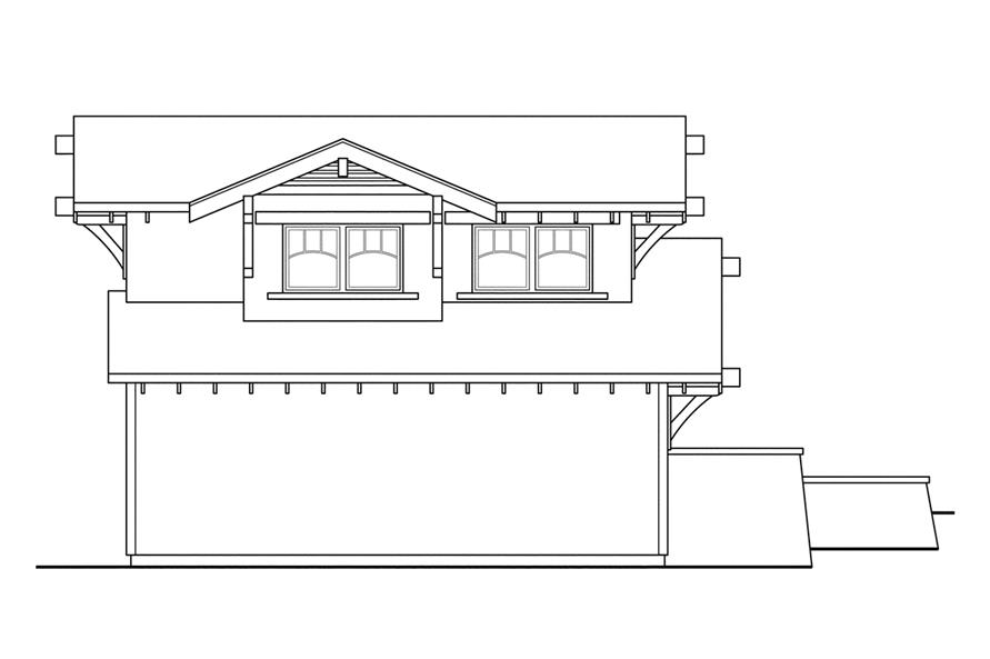 108-1766: Home Plan Left Elevation
