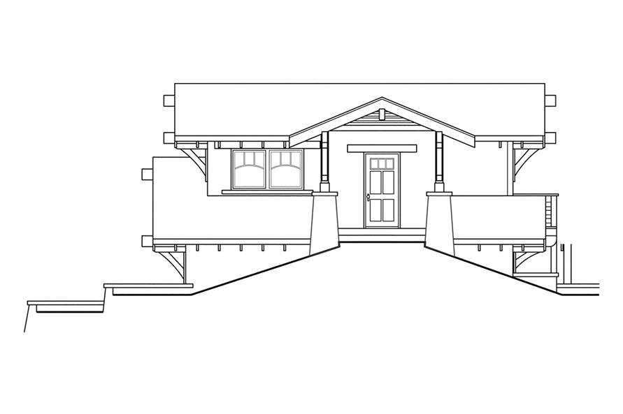 108-1766: Home Plan Right Elevation