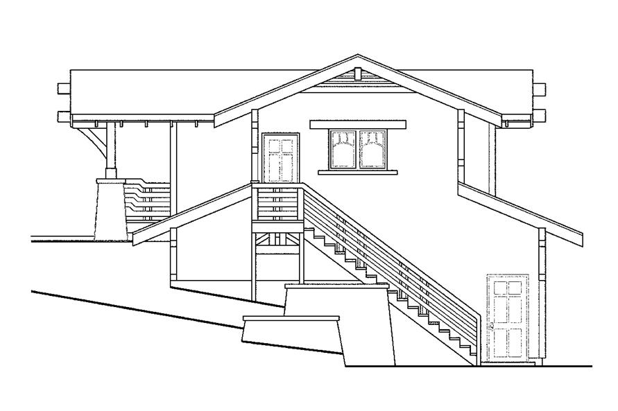 108-1766: Home Plan Rear Elevation