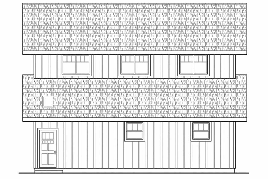 108-1767: Home Plan Left Elevation
