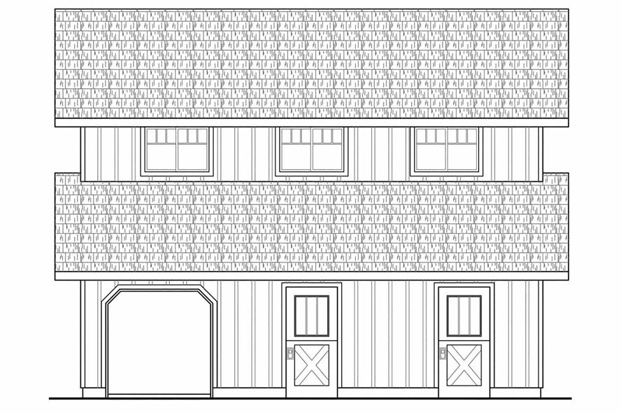 108-1767: Home Plan Right Elevation