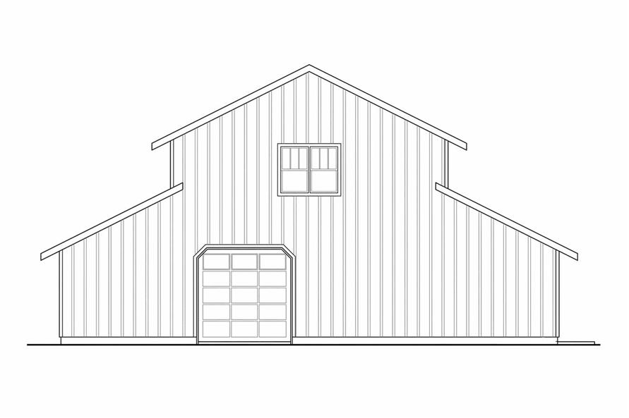 108-1767: Home Plan Rear Elevation