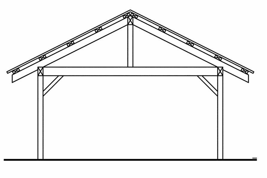 108-1768: Home Plan Rear Elevation