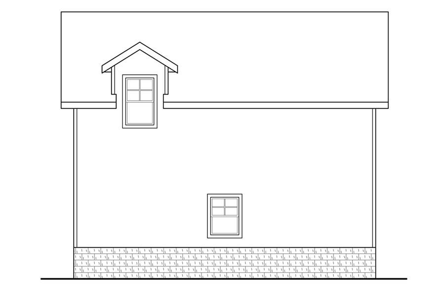 108-1769: Home Plan Left Elevation
