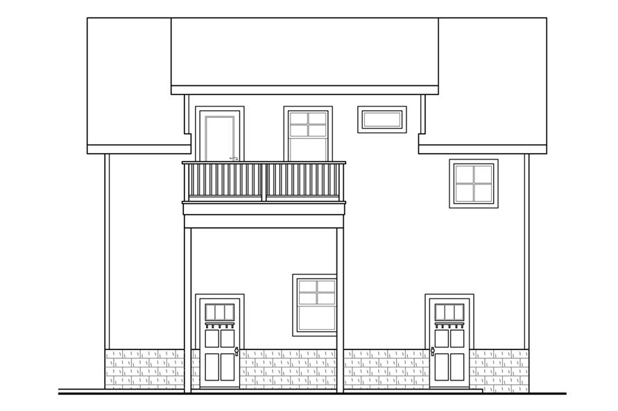 108-1769: Home Plan Right Elevation