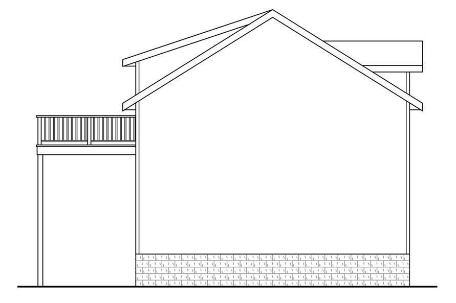 108-1769: Home Plan Rear Elevation