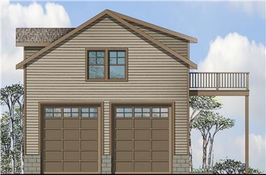 1-Bedroom, 803 Sq Ft Traditional Home Plan - 108-1769 - Main Exterior