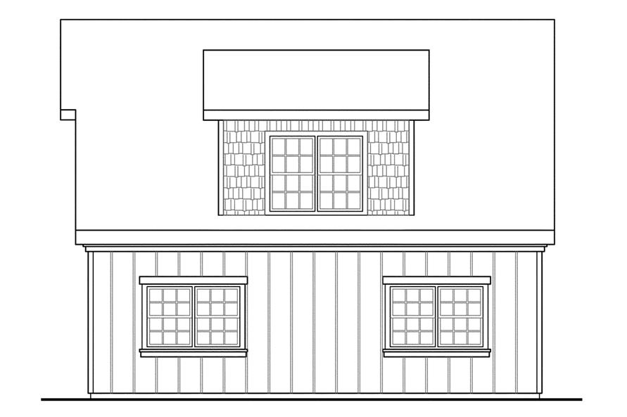 Home Plan Right Elevation of this 0-Bedroom,594 Sq Ft Plan -108-1770