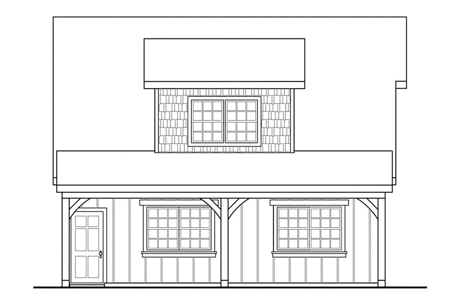 Home Plan Left Elevation of this 0-Bedroom,594 Sq Ft Plan -108-1770