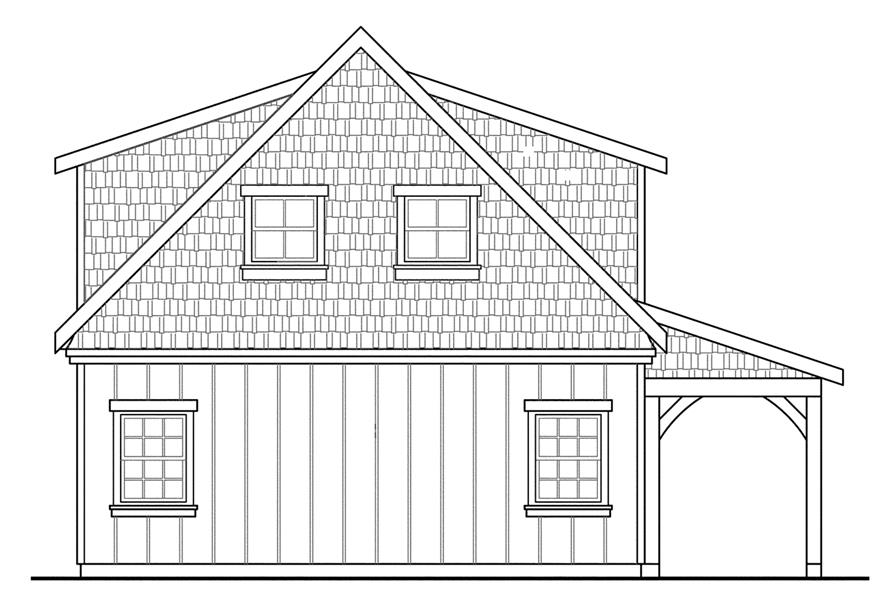 Home Plan Rear Elevation of this 0-Bedroom,594 Sq Ft Plan -108-1770