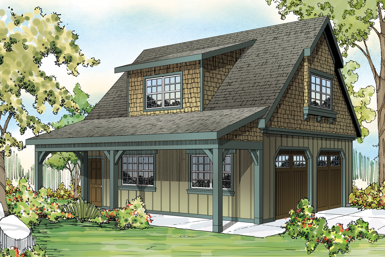 #108 1770 · Front Elevation Of Craftsman Home (ThePlanCollection: House Plan  #108 1770) Ideas