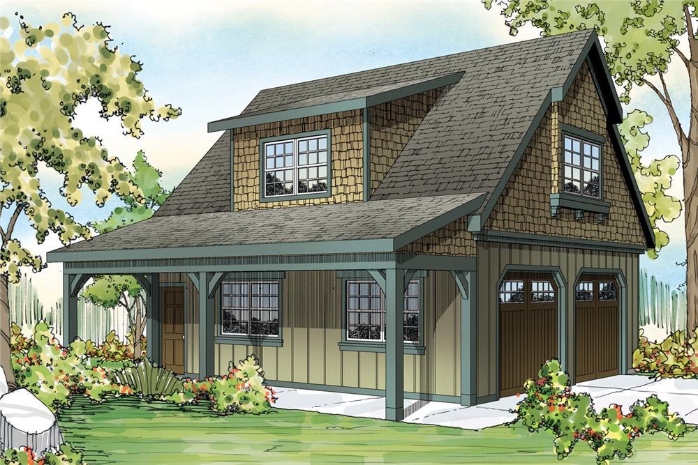Craftsman home (ThePlanCollection: Plan #108-1770)