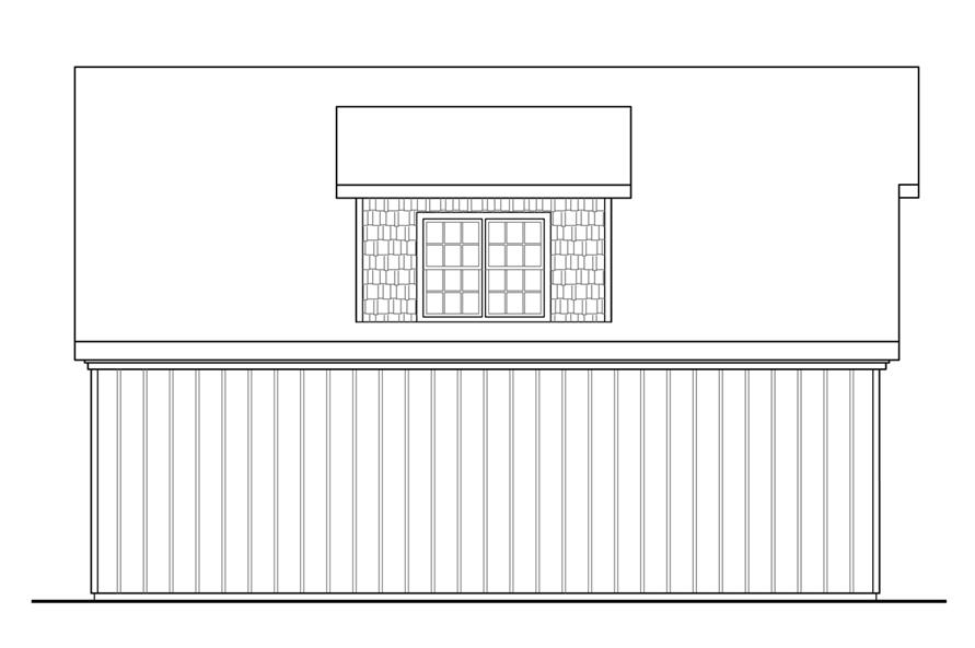 108-1771: Home Plan Left Elevation