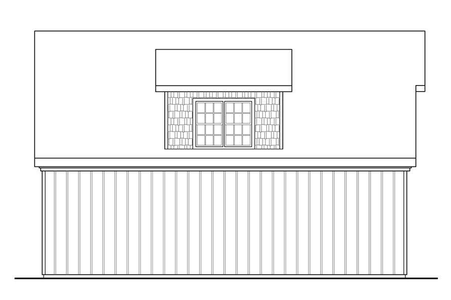 108-1771: Home Plan Left Elevation