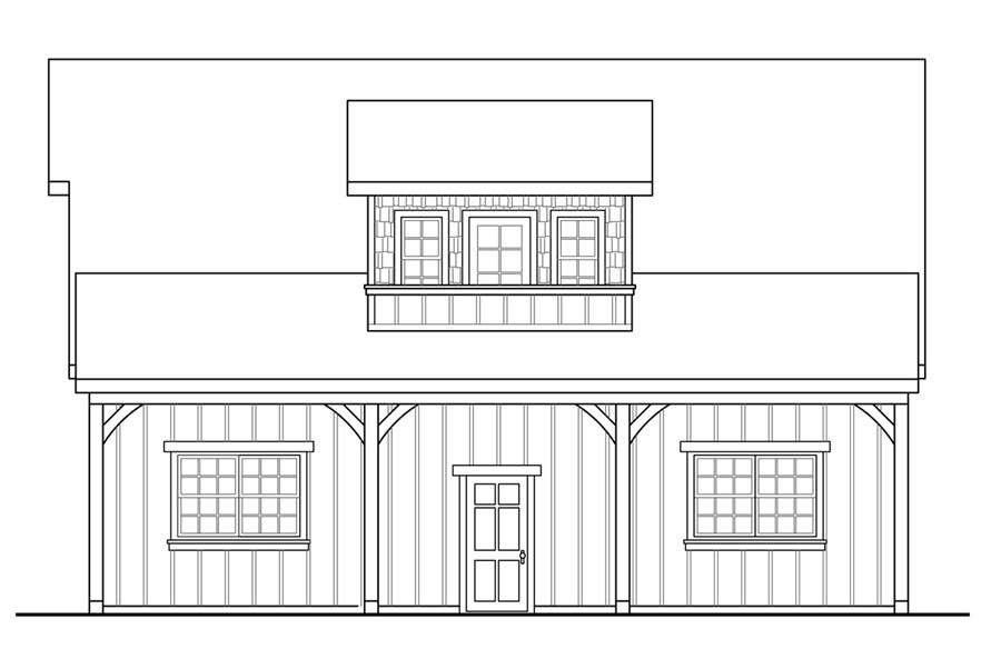 108-1771: Home Plan Right Elevation