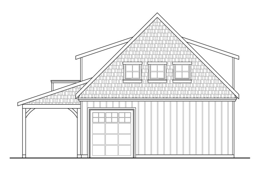 108-1771: Home Plan Rear Elevation
