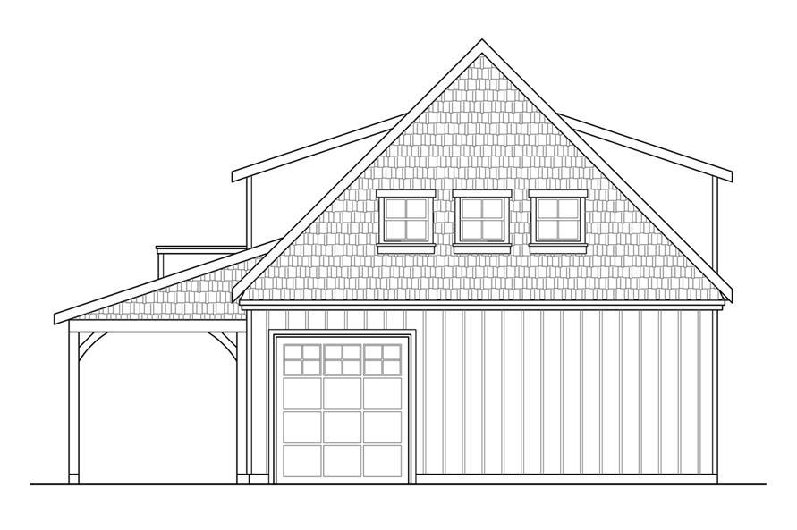 108-1771: Home Plan Rear Elevation