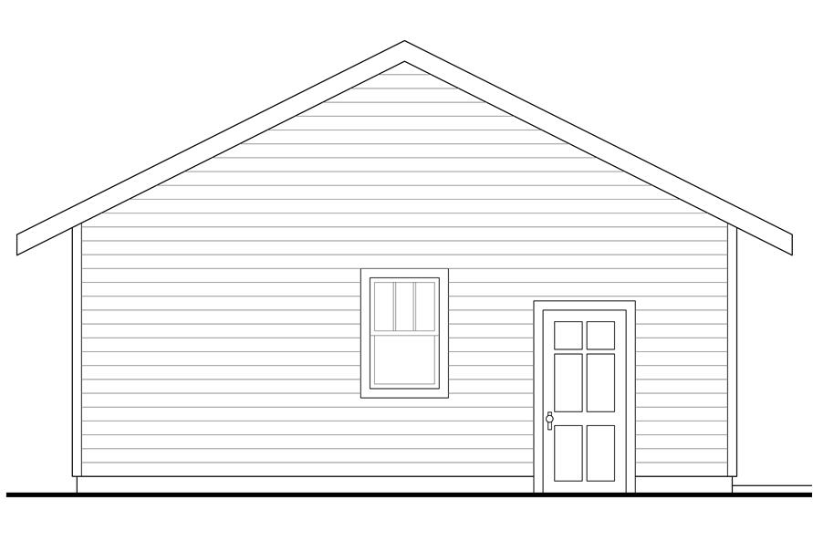 108-1772: Home Plan Left Elevation