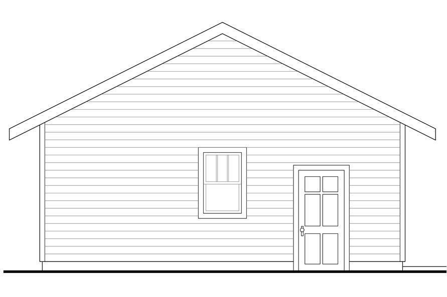 108-1772: Home Plan Left Elevation