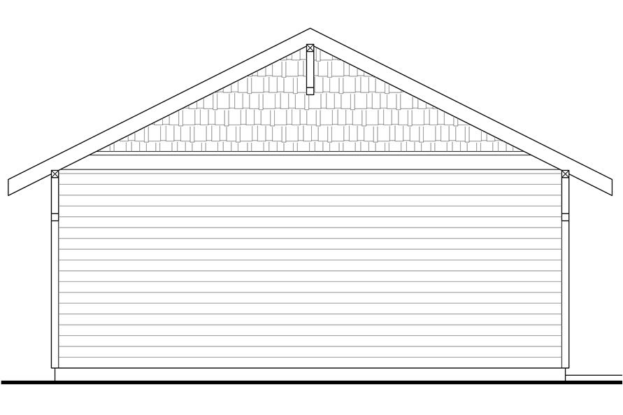 108-1772: Home Plan Right Elevation