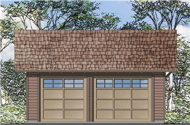 0-Bedroom, 576 Sq Ft Garage House Plan - 108-1772 - Front Exterior